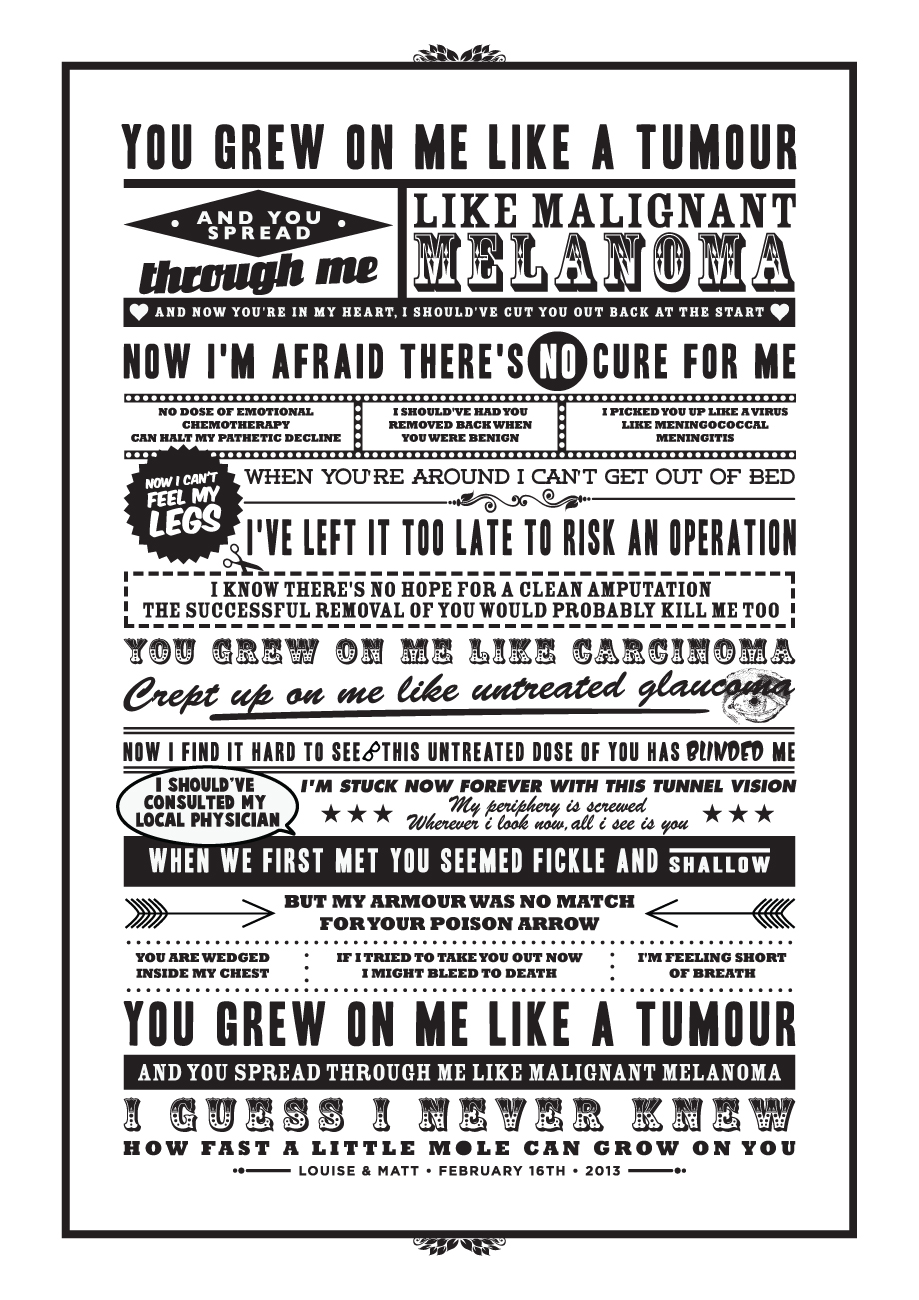 Tim Minchin Lyric Poster