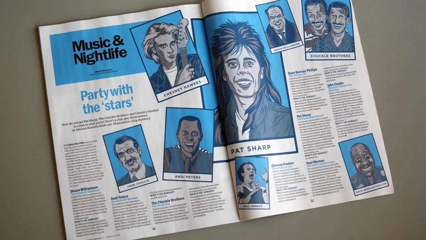 Time Out Celebrity Illustrations