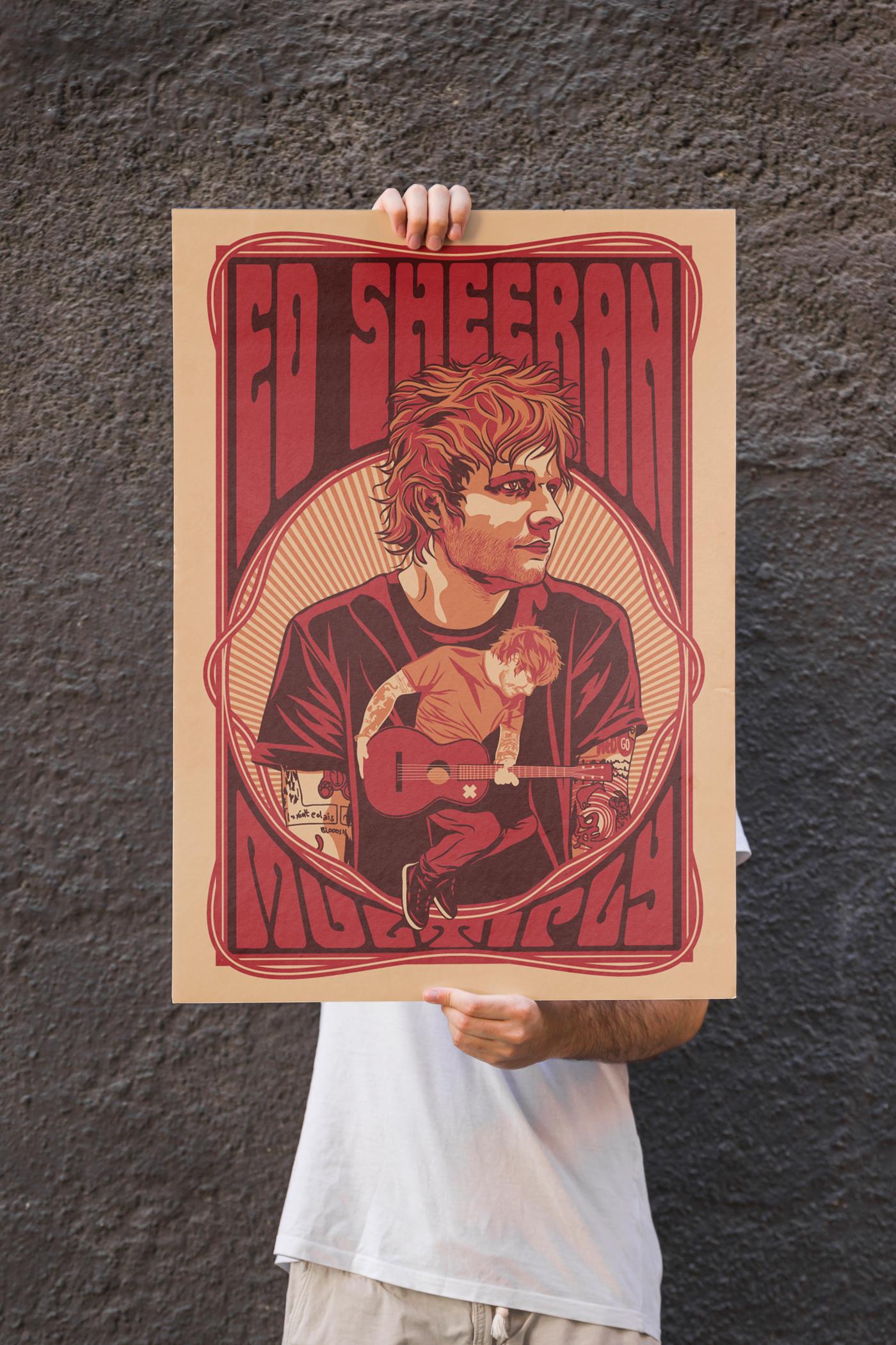 ed-sheeran-tour-poster-greg-bunbury