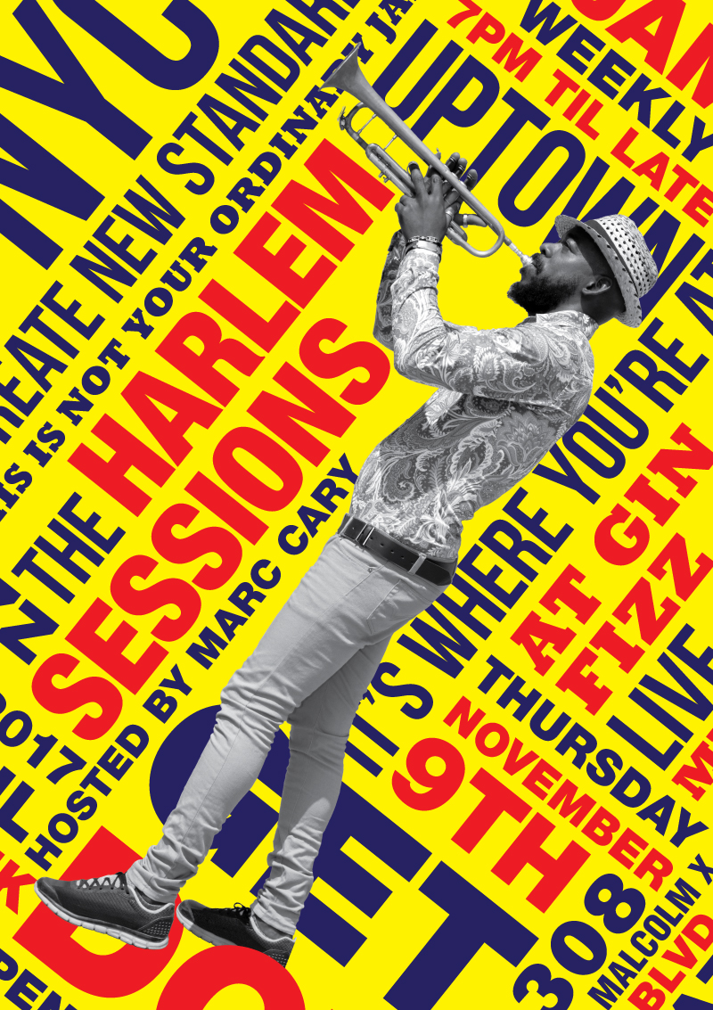 flyer design harlem sessions