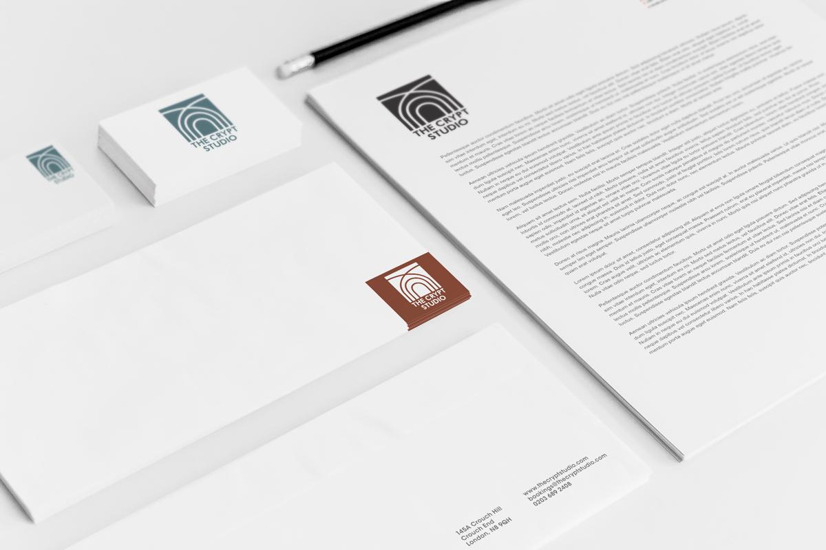 The_Crypt_Studio_Logo_stationery_Bunbury_Creative