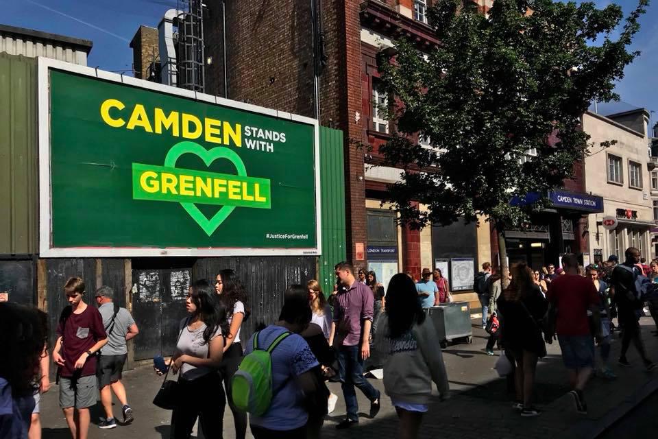 Grenfell Camden poster by Greg Bunbury