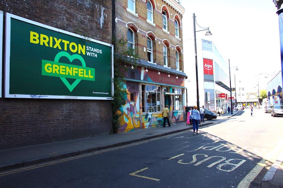 Grenfell Brixton poster by Greg Bunbury