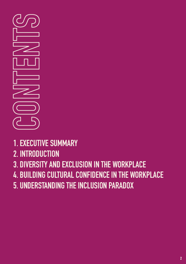 The Unmistakables Diversity & Confusion report 2